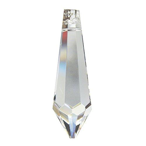 Kristall Birnel 50mm 4 Stück - Regenbogenkristall - Feng Shui - Esoterik - Fensterschmuck - 30% Pbo Bleikristall - Weihnachtsschmuck - Kronleuchter Behang - Kristall Spitze