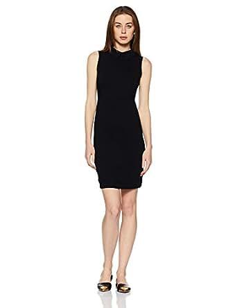 Elle by Unlimited Women's Pencil Dress (Eedr0011_Black_X-Small)