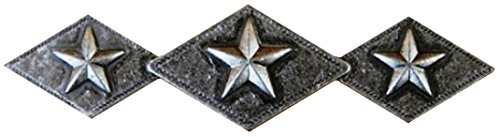 Set von 6Tri Star Diamant Schublade Schrank Griff Western Southwest Rustikal Texas (Antik Messing), 4002 (Zieht Cabinet Hardware Messing)