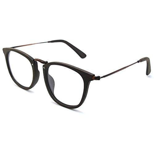 TIJN Vintage Runde Brillen Rahmen optische Gläser mit Nicht verschreibungspflichtige Linse