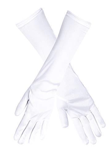 Das Kostümland Lange Handschuhe Angelica 35 cm - Weiß