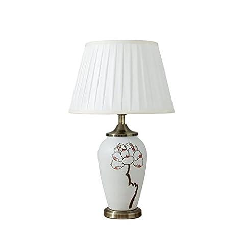 Neue chinesische Keramik Schreibtisch Lampe Griff Lotus Modern Einfache Wohnzimmer
