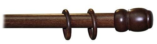 Bastone in legno a strappo mm. 35 noce scuro cm. 300