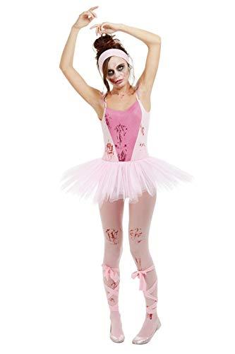 Smiffys 50939XS Zombie Ballerina Kostüm, Damen, Rosa, XS - Größe 04-06