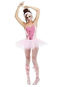 Smiffys 50939M - Disfraz de bailarina zombie para mujer, talla L, color rosa