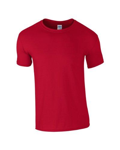 Gildan -  T-shirt - Uomo Rosso - Cherry