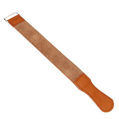 Techting Afeitadora Afilado Correa de Cuero Recto del Peluquero de la maquinilla de Afeitar Plegable Trimmer Sacapuntas Pulido Cinturón