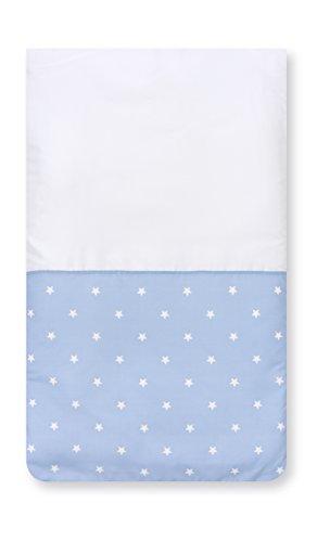 Pirulos 83300513 - Colcha con relleno minicuna stars, color blanco y azul