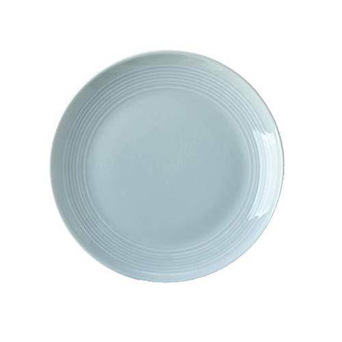 CJW Vaisselle en céramique de ménage coréen - steak/pâtes/plat 20.5 cm (Color : Green)