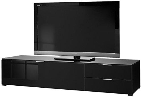 CS Schmalmöbel 45.102.507/032 TV-Board Cleo Typ 12, 163 x 50 x 35 cm, schwarz / schwarzglas
