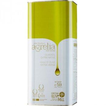 Griechisches Olivenöl Extra Nativ Agrelia 5L Kanister Cretan Olive Mill kretisches Oliven Öl von wilden Olivenbäumen Koroneiki Säuregehalt 0,3 - 0,5{c31c04486368fb5e3d30aad9db2abad19067a70d51fba9a5fb596cd5f756740f}