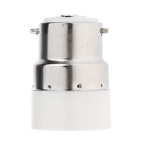 ZYCX123 Lampen-Halter-Konverter B22 zu E14 Lampe Base Converter PBT E14 B22 Bajonett Flamme Restardant LED-Birnen-Buchse Adapter - Base Metall-halogen-lampe