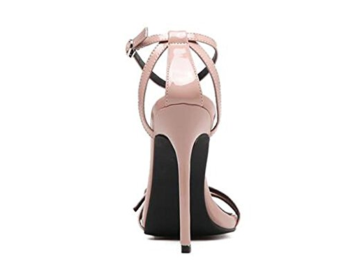 PBXP Elegant OL All-Matched Sandalen Gürtelschnalle Narrow Gürtel Frauen Stiletto High Heel Open Toe Sandalen Casual Schuhe 35-40 Black