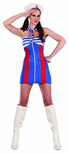 Sailor Kostüm Ahoy - Wicked Fun Sexy Damen Sweet Sailor Pin Up ahoy- eine Größe bis Größe 14