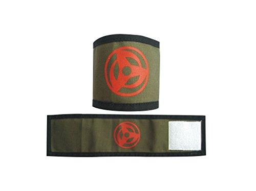 Mtxc Naruto Cosplay Accesorios Sombreroake Kakashi Syaringan Pulseras Verde oliva