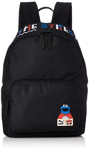 PUMA Kinder Sesame Street Backpack Sport Rucksack, Black, OSFA (Kinder Puma Rucksack)