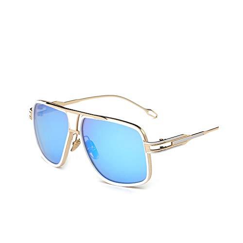 Sportbrillen, Angeln Golfbrille,New Style NEW Sunglasses Men Brand Designer Sun Glasses Driving Oculos De Sol Masculino Grandmaster Square Sunglass 7-Gold-Blue