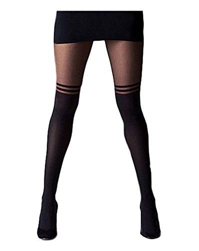 Imixcity Femme/Fille Collants Voile Skinny Tights Pantyhose Legging Pantalon Stretch Sangle Croix