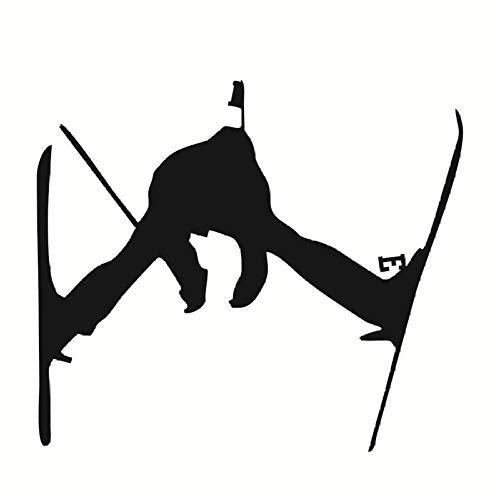 Kinder Favoriten Sport Silhouette Skispringen Wandaufkleber Pvc Wohnkultur Für Sofa Hintergrund Wandtattoos Snowboard Skifahren Decor 44x38cm