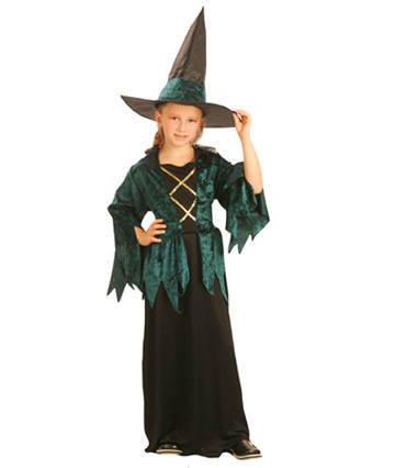 Party Partners 86808 Kinder-Kostüm Grüne Hexe, 7-9 Jahre ()