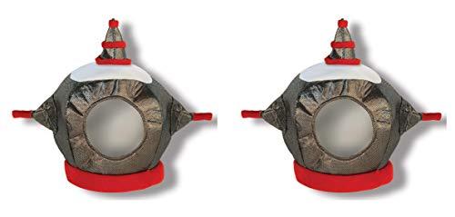 Beistle 60961 Stoff-Roboter-Helm, 2-teilig, Einheitsgröße, ()