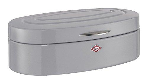 Wesco 236 201-76 Brotkasten, Metall, grau, 41.5 x 14 x 26 cm