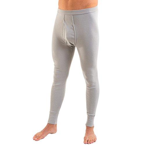 HERMKO 3540 Herren lange Unterhosen mit Eingriff und Weichbund aus 100% Baumwolle in Feinripp, verschiedene Farben, Farbe:hellblau,...