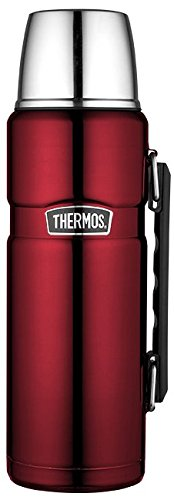 Thermos 4003.248.120 Isolierflasche Stainless King edelstahl (1,2 Liter) cranberry