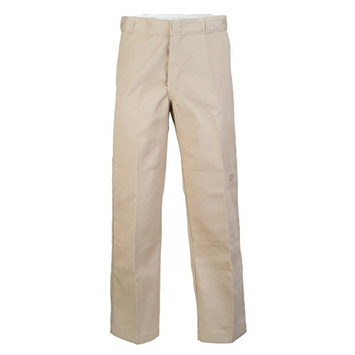 Pantaloni Dickies Double Knee Work Khaki (32 Vita X 34 = Eu 46 , Marrone)