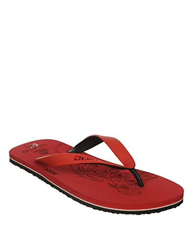 Duke Men's Red & Black Coloured Pvc Slippers 10  available at amazon for Rs.250