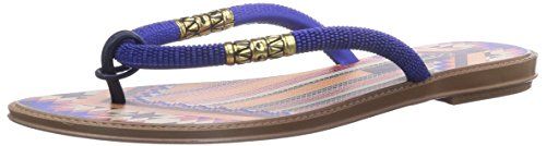 Grendha Tribale Thong, Infradito donna, Multicolore (Braun (Blue/Brown 90026)), 40
