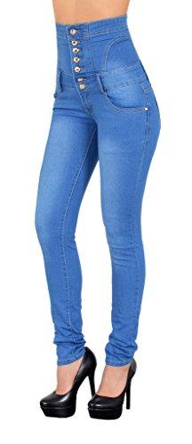 by-tex Damen Jeans Damen Röhrenjeans Damen Hochbund Jeanshose in aktuellen Farben J11