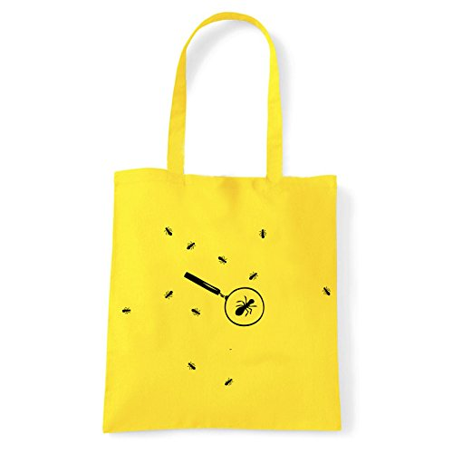 Art T-shirt, Borsa Shoulder formiche Giallo