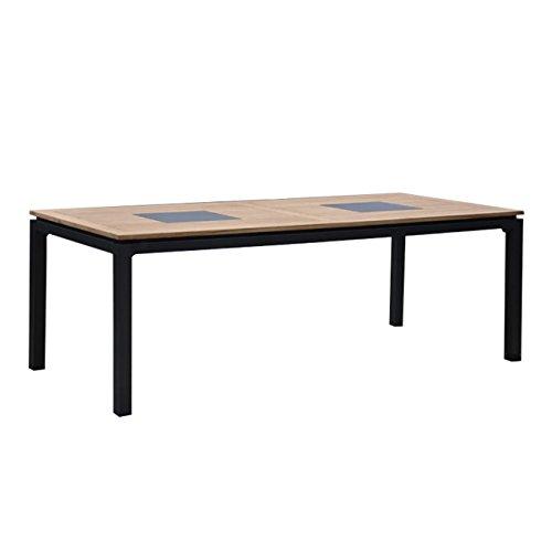 OUTLIV. Gartentisch Holz Linz Tisch 220x100cm Aluminium/Teak mit Keramikeinleger Massviholz-Tisch...