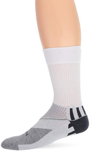 Balega Unisex-Erwachsene Enduro V-tech Crew Socken, White/Grey Heather, Small -