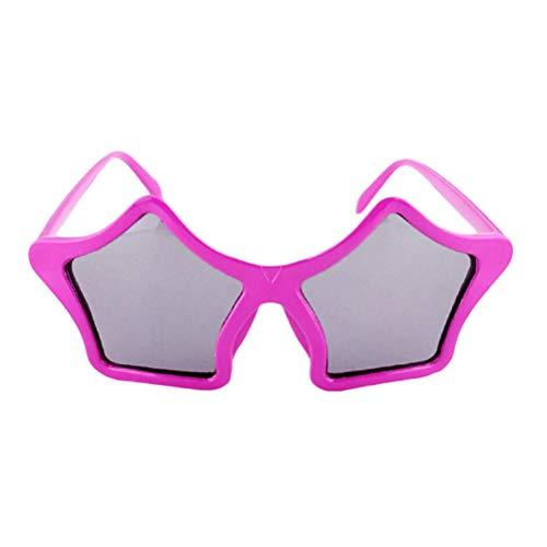 (BESTOYARD Stern Sonnenbrille Kinder Kostüm Sonnenbrille Spaßbrille Party Favors (Rosenrot))