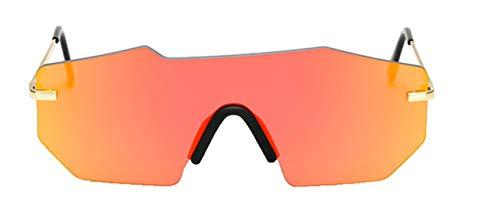 Tianba Mode Siamese Spiegel Damen Sonnenbrille Large-Gerahmte Brillen Unisex Sommer Ideal Radbrille Klassisch Gläser Anti-UV Brille