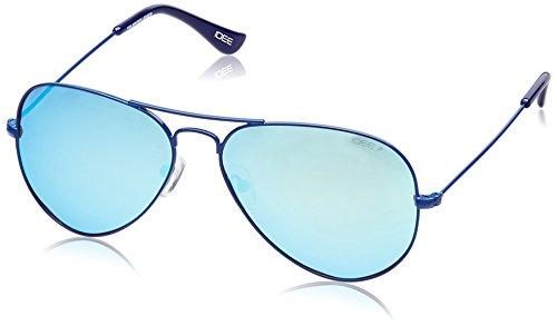 IDEE Mirrored Aviator Unisex Sunglasses (IDS2001C20PSG 58|58 millimeters|BlueRevo) image