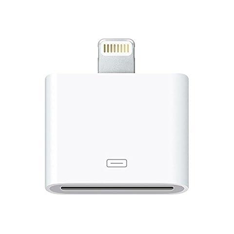 Madridgadgetstore® Adaptateur de connecteur Lightning vers 30broches compatible avec iPhone SE 4 5 6 6S 7 Plus 4.7