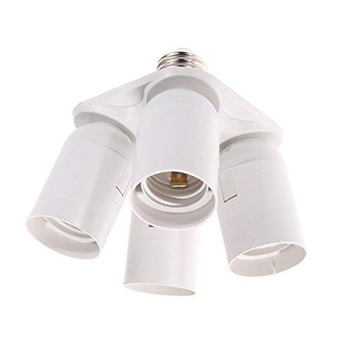 zantec Lampe Halter LED-Glühbirne Sockel E27Konverter 1-head to 4-head