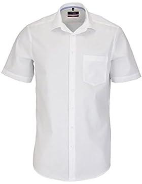 SEIDENSTICKER Modern Hemd Halbarm New Kent Kragen weiß