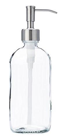 Jarmazing Products clair Bocal en verre Distributeur de savon et