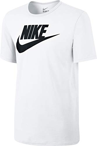 Nike Herren Tee-Futura Icon Training T-Shirt, Weiß/Schwarz, 2XL - Weiß Training Top T-shirt