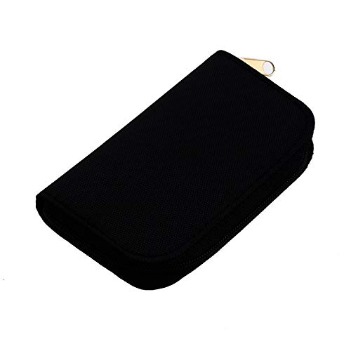 GailMontan Security Digital Memory Card MMC CF Storage Carrying Pouch Case Holder Wallet(Black)