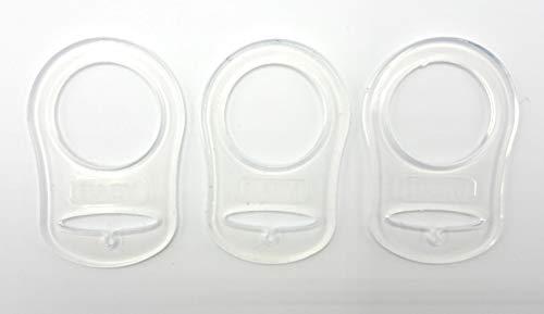 Silikonring (Adapter) für Schnuller - Schnullerhalter für Baby Schnullerketten aus weichem Silikon 100{cbd7677b4232189bd7976eec25886de4b8d25d7a330e58cfc5f15934d30b126f} BPA-Frei (3er Set)
