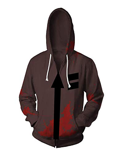 (Zack Hoodie Erwachsene & Jugendliche Frühling Herbst Spiel Kapuzenjacke Sweatshirt Kostüm Langarm Oberbekleidung Mantel)