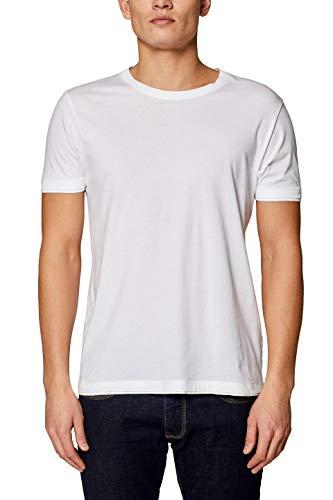 ESPRIT Herren T-Shirt 029EE2K041 Weiß (White 100) Medium (Herstellergröße: M)
