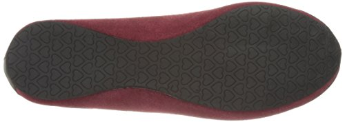 T.U.K. Shoes Women's Burgundy Suede Kitty Flats red