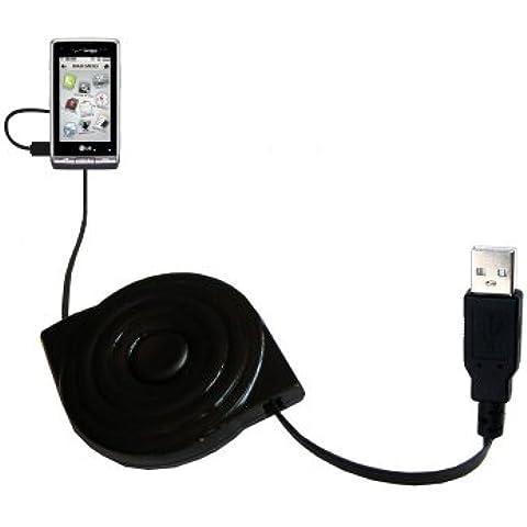 Cavo USB Retrattile a Doppia Funzione Caricamento con LG VX9700 con il Sistema TipExchange Aggiornabile