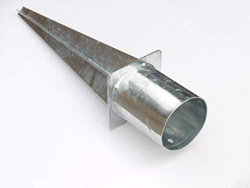 EXCOLO 120 mm rund Pfosten Träger Einschlag-hülse Bodenhülse Holz Pfosten Pfahl Zaun für Holzzaun Lamellenzaun …